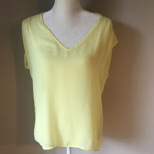 Collective Concepts Yellow Blouse Size Medium
